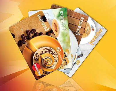 Expresso cards design for Expressbank