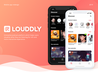 Louddly Podcast Platform Redesign