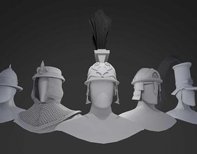 3D victorian helmets