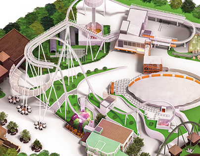 Gardaland Map - 3D Illustration