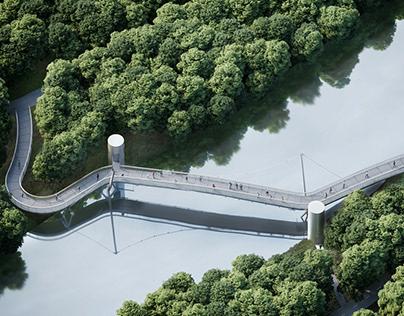 Passerelle Amiens - Ronald Sirio Architecte
