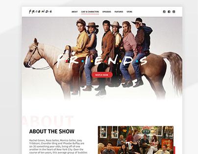 Friends TV Show - Landing Page Design