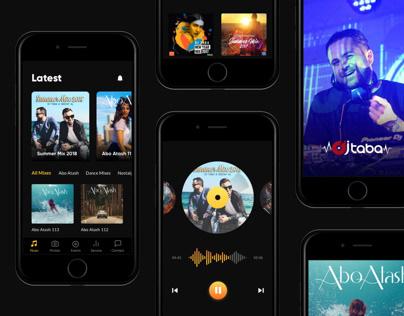 Dj Music UI Design Concept