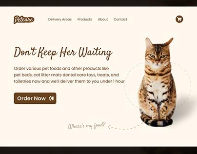 Petcare - Pet Food Website UI Design