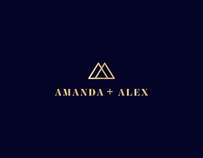 Amanda + Alex Identity