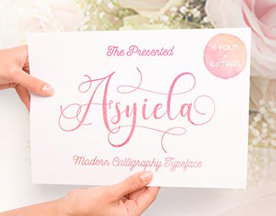 Asyiela Script Font Bundle FREE