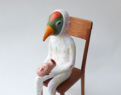 Seven colors bird