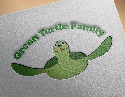 green turtle family