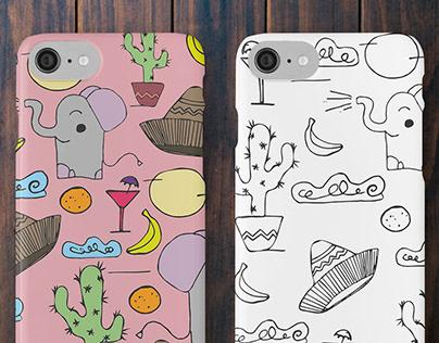 Cactus & Elephant Pattern