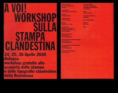 Editorial - A VOI! Workshop stampa clandestina