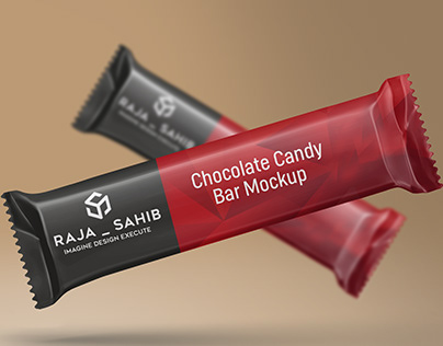 Chocolate / Candy Bar Packaging Mockup