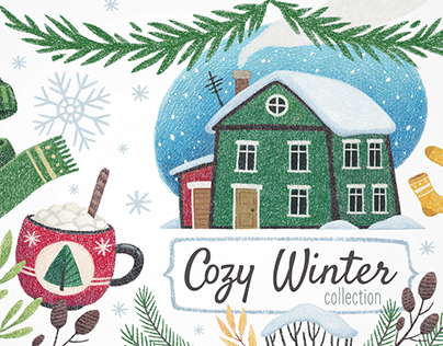 Cozy Winter Illustration Collection