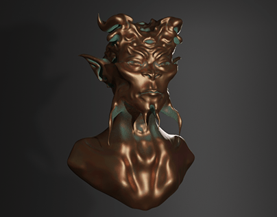 Creature Bust Design in Blender 3D