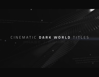 Cinematic Titles - Dark World  - After Effects Template