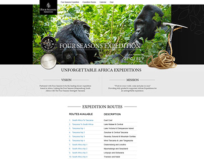 Proposed Website - Four Seasons Expedition