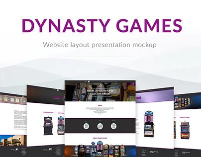 Dynasty Games Website design