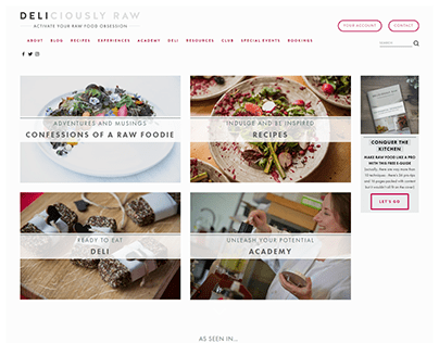 Squarespace Food and Recipe Blog for Chef