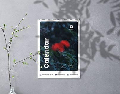 Wall Calendar 2021 Psd Template