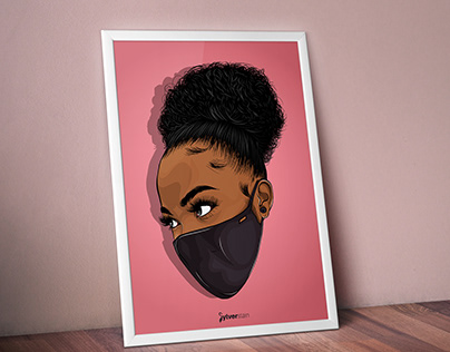 WEAR MASK (vector illustration)