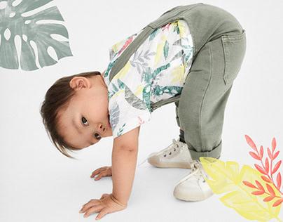 BABY BOY'20 Jungle Print T-shirt