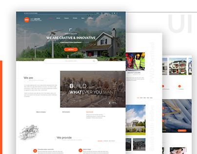 Construction Company Landing Page Concept