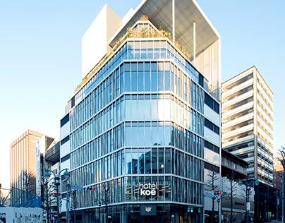 brand design for hotel koe tokyo