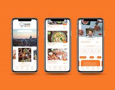 Cuisine du monde - Application mobile