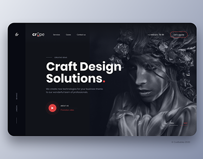 Crope - Creative Web Agency Figma UI Template for Theme