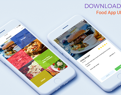 Food App UI Freebie Download