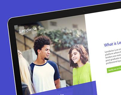 Lendwise peer-to-peer lending temp website design