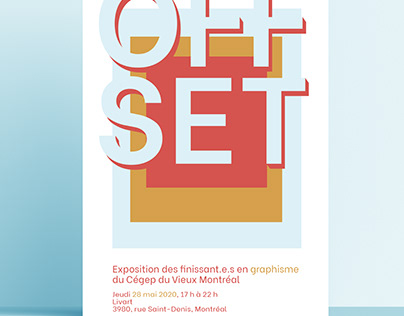 OFFSET - AFFICHE EXPOSITION GRAPHISME