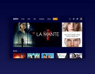 SERVICE DESIGN I SALTO Website I Plateforme de VOD