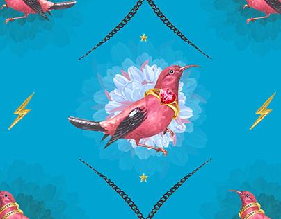 Pattern design Bling Birds 14 Edouard Artus ©2018