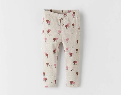 ZARA BABY GIRL AW21 - Tulips leggings