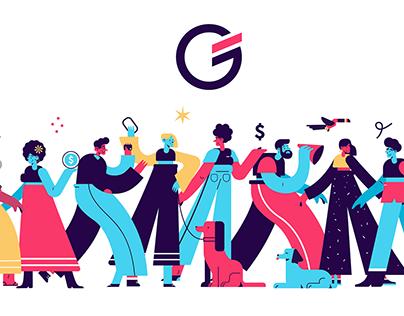 Guiabolso - Brand Illustrations