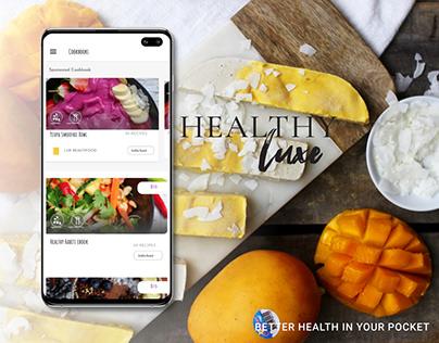 Healthy Luxe • UI UX • HEALTH • MOBILE APP • FOOD