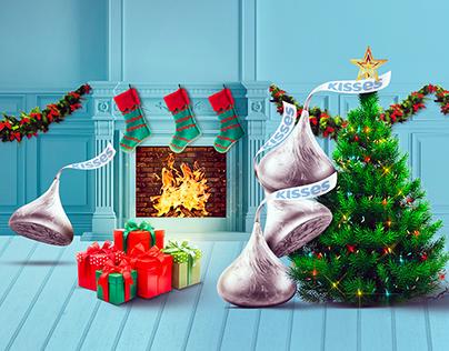 Herhey's Kisses / ATL-Social media: Navidad Kisses