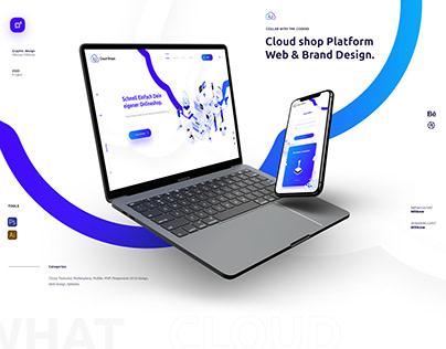 Cloud shop Platform Web & Brand Design.