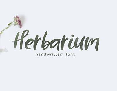 HERBARIUM FONT - FREE HANDWRITTEN SCRIPT TYPEFACE