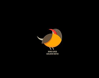 BIRD LOGO WITH GOLDEN RATIO