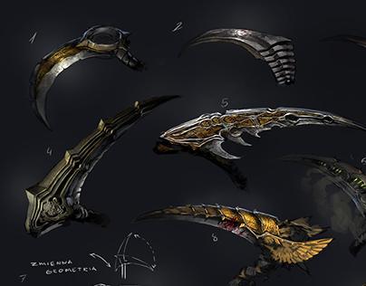 scythe - weapon design