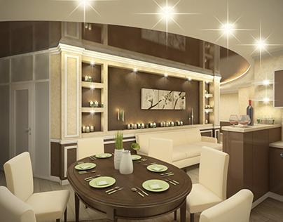 Dining Room Design. Belgorod, Russia.
