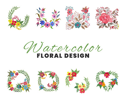 Watercolor floral for invitation & celebration card