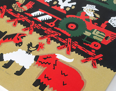 The Farm screenprint