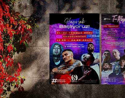 Hatay/İskenderun T-Rap Festival Poster Tasarımı