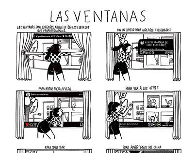 Cómic/LAS VENTANAS/Revista Arcadia/2020