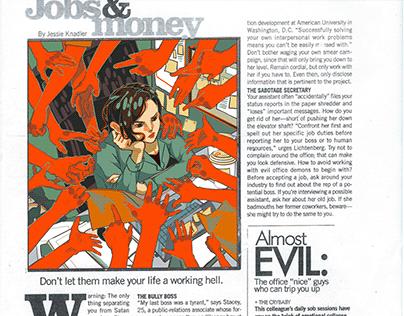 Evil Office Mates - Editorial Illustration