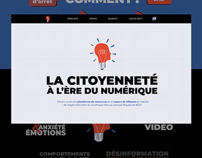 Site web - La citoyenneté à l'ère du numérique