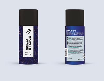 Wild Stone Perfume Bottle Label Designing