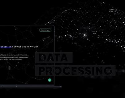 Data Processing Landing Page
